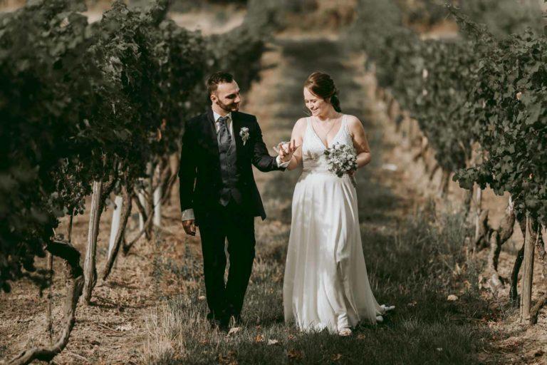 Hochzeitsfotograf | Brautpaar Portraits in den Weinbergen